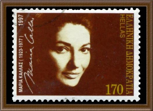 1997 Maria Callas Opera Singer art