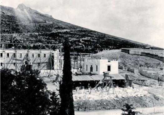 Η κατασκευή της Γενναδείου Βιβλιοθήκης, ca. 1924.