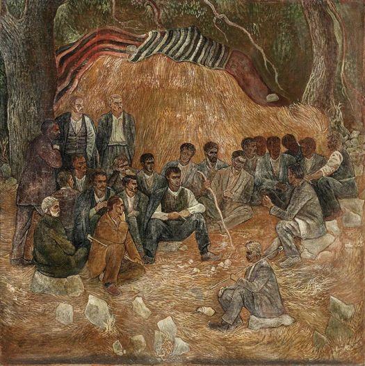 Βάλιας Σεμερτζίδης, «Συνεδρίαση χωρικών»,1945-46