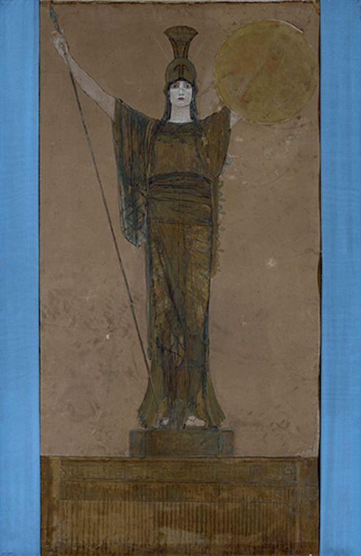 Νικόλαος Γύζης, «Παλλάς Αθηνά» (σχέδιο για το λάβαρο του Πανεπιστημίου Αθηνών), 1887