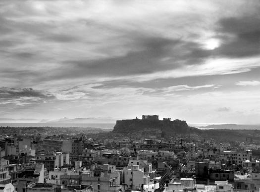 ωάννης Λάμπρος, Πανοραμική άποψη της Αθήνας με την Ακρόπολη στο βάθος, 1960