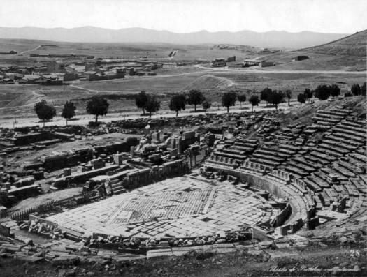 Αφοί Ρωμαΐδη, τέλη 19ου αιώνα, Αθήνα, άποψη του θεάτρου Διονύσου.